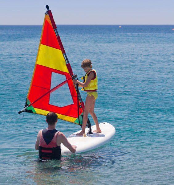 Kindersurfkurs Windsurfkurs Ostsee, Rügen, Wikingsurf
