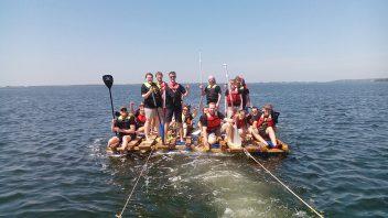 Team-Event Floßbau Rügen Wikingsurf